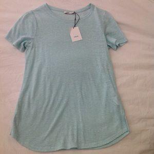 NWT Vince Linen Summer blouse tee Top XS $95